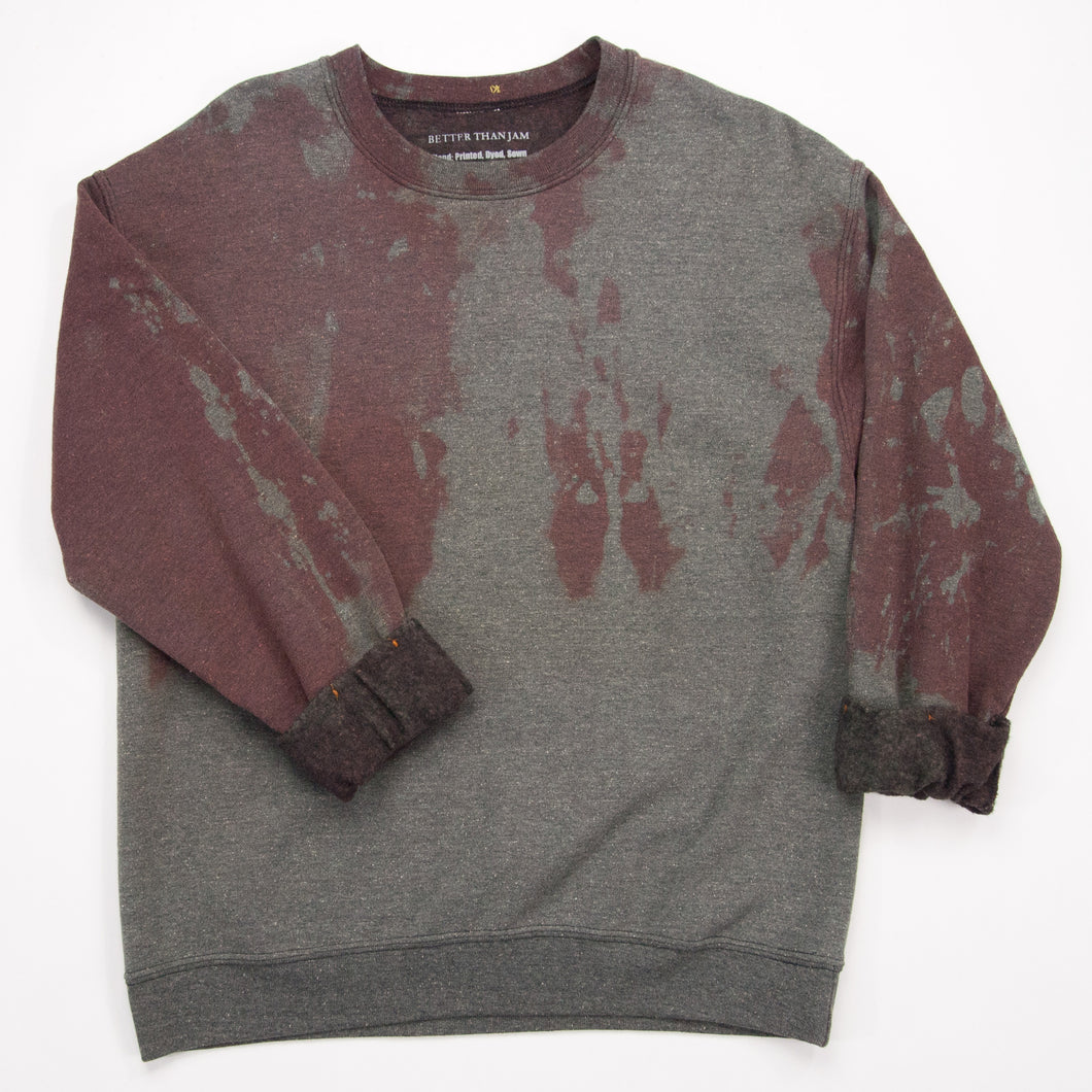 Sale Bin Anti Dye Sweatshirt // Black Brown