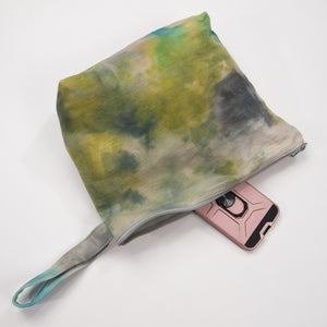 Ice Dye Waxed Travel Bag unlined