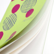 Load image into Gallery viewer, Printed Eco-friendly Sketchbook printed Polka Dots on Polka Dots