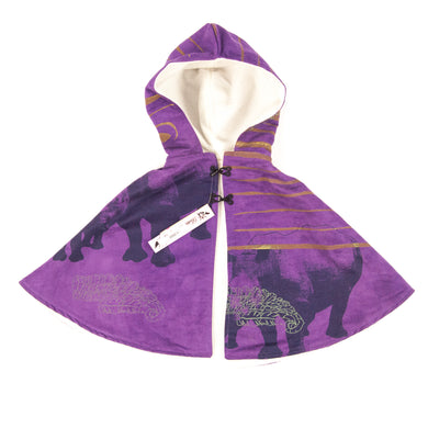 Kids Hooded Cape // Purple