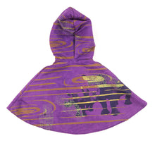 Load image into Gallery viewer, Kids Hooded Cape // Purple