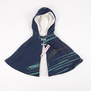 Kids Hooded Cape // Navy Blue