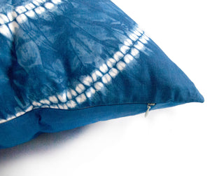 Indigo Dyed Linen Throws Pillow Covers
