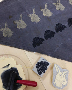 Blockprinting on Textiles Workshop