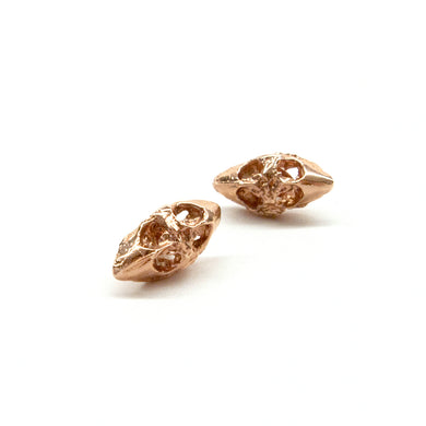 Beaks Rose Gold Post Earrings