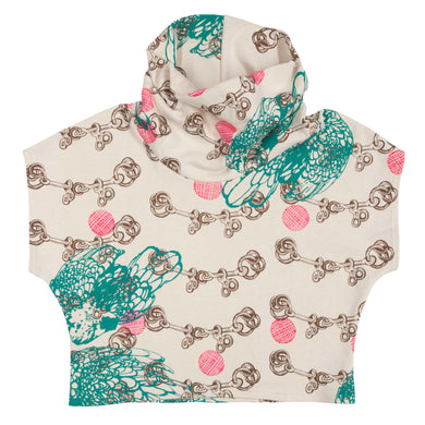 Hemp Fleece Cowl // Pink Polka Dots Etc on Cream