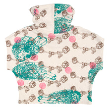 Load image into Gallery viewer, Hemp Fleece Cowl // Pink Polka Dots Etc on Cream