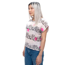 Load image into Gallery viewer, Cotton Sheer Top // Flower Dyed and Polka Dot Print