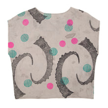 Load image into Gallery viewer, Cotton Sheer Top // Rosemary Green Ibex Horn Print