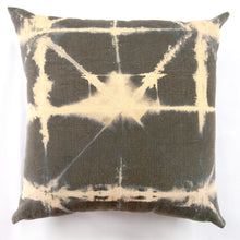 Load image into Gallery viewer, Heavy Olive Linen AntiDyed Shibori Throw Pillows