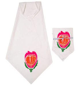 Floral Print Kitchen Towels w/ Hang Tab