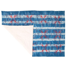 Load image into Gallery viewer, Padded Throw // Indigo Dyed Osnaburg Printed with Crayfish and Almond Shells