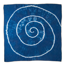 Load image into Gallery viewer, Indigo Dyed Silk Bandana