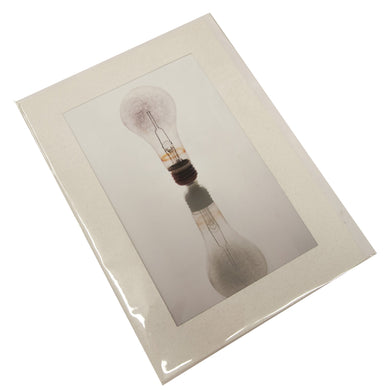 Light Bulb Mirrored Photograph Card