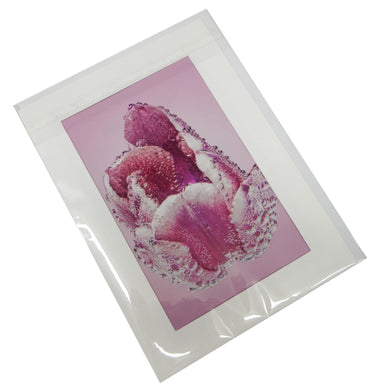 Tulip Flower with Bubbles Photograph Card