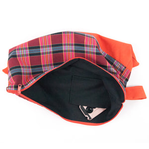 Overnight or Travel Extra Large Bag // Orange Plaid