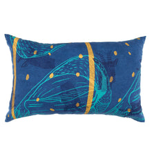 Load image into Gallery viewer, Indigo Dyed Linen Pillow Set // Printed with Goats, Fawn Makings, Coconuts
