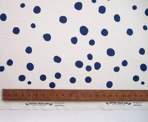 Hand Screenprinted Cotton/Linen  by Yard // Custom Polka Dots Any Color