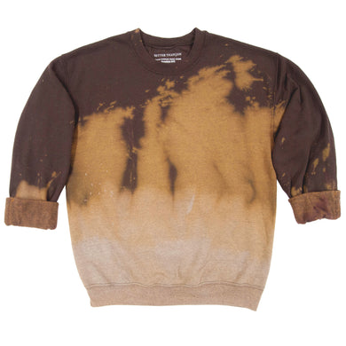 Anti Dye Sweatshirt // Chocolate Brown