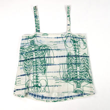 Load image into Gallery viewer, Summer Linen Tank Top // shibori skeleton
