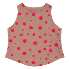 Load image into Gallery viewer, Silk Hemp Cotton Tank Top // Avocado Pink Dyed with Polka Dot Print