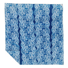 Load image into Gallery viewer, Lace Cyanotype Linen Bandana