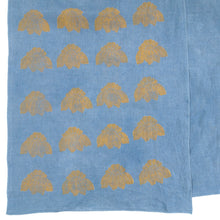Load image into Gallery viewer, Indigo Dyed Linen Blockprinted Table Runner