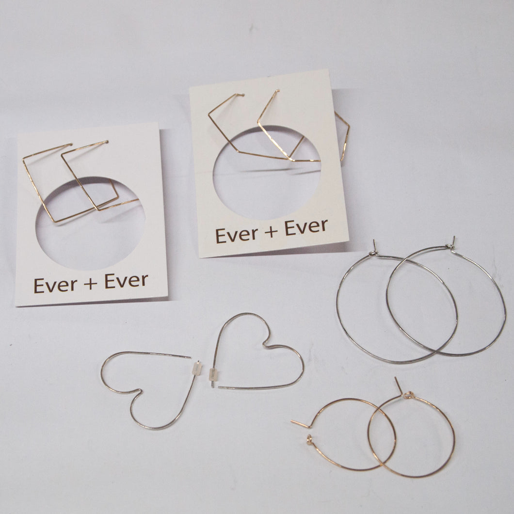 Fine Light Weight Hoop Earring