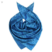Load image into Gallery viewer, Lace Cyanotype Silk Bandana