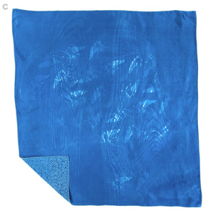 Lace Cyanotype Silk Bandana