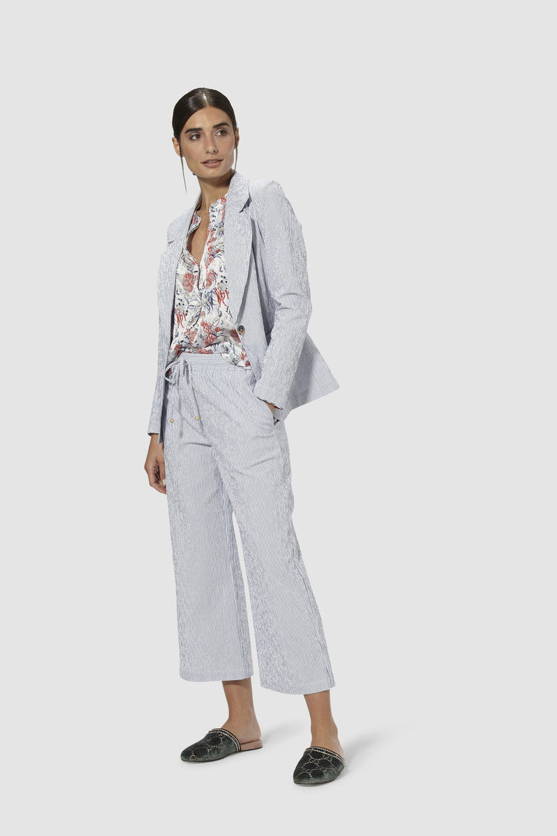 Gestreifte Wide-Leg-Pants