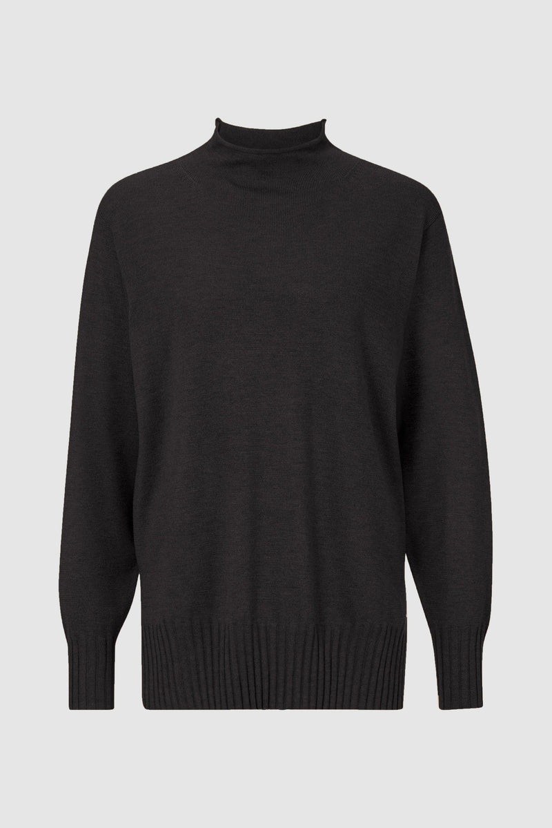 Turtle-Neck mit Rollsaum