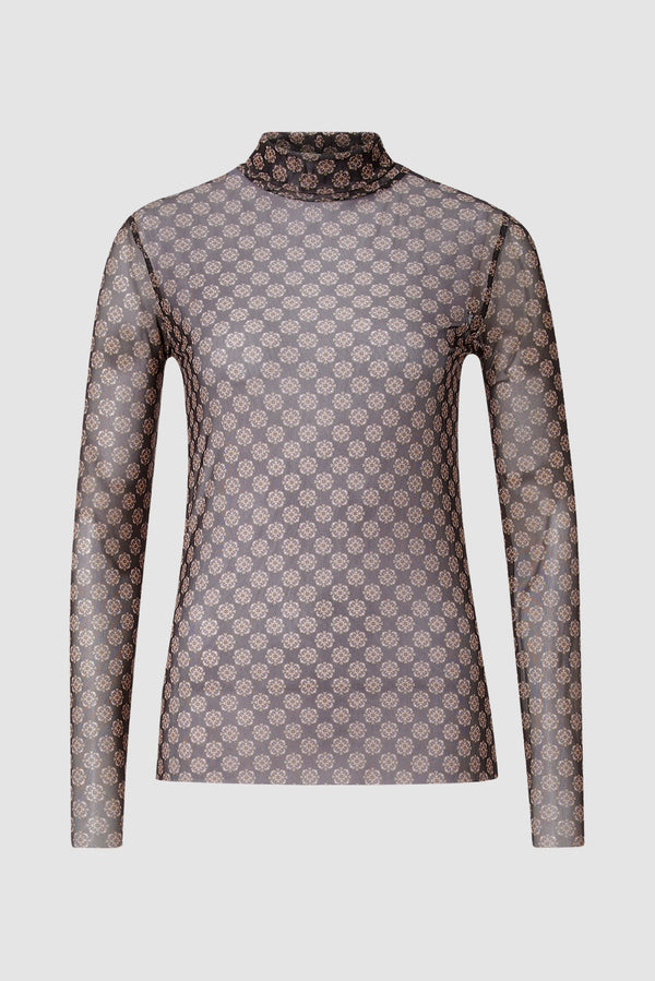 Rich & Royal - Longsleeve mit Retroprint - Büste