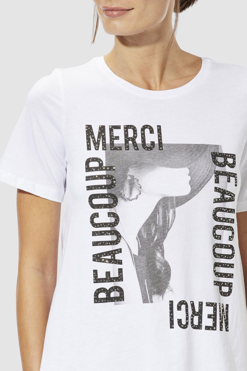 Rich & Royal - T-Shirt MERCI BEAUCOUP - Detailansicht