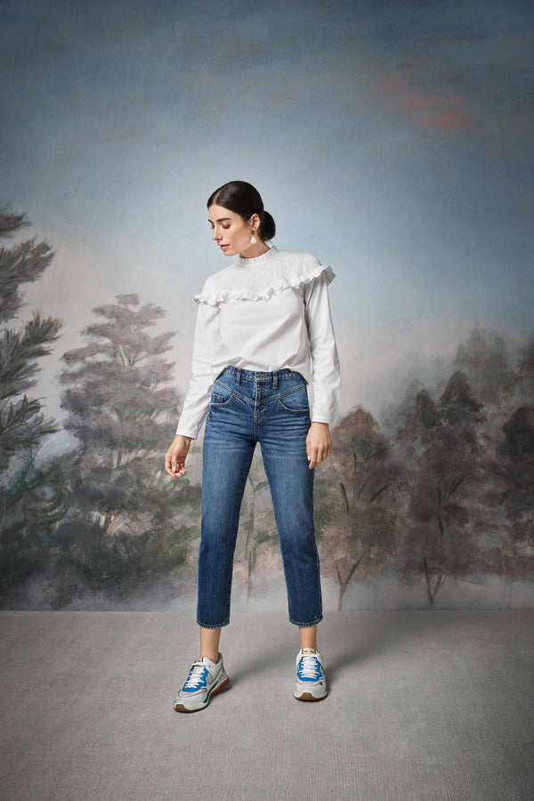 Rich & Royal - Vintage Straight Jeans mit Passe - Kampagnenbild