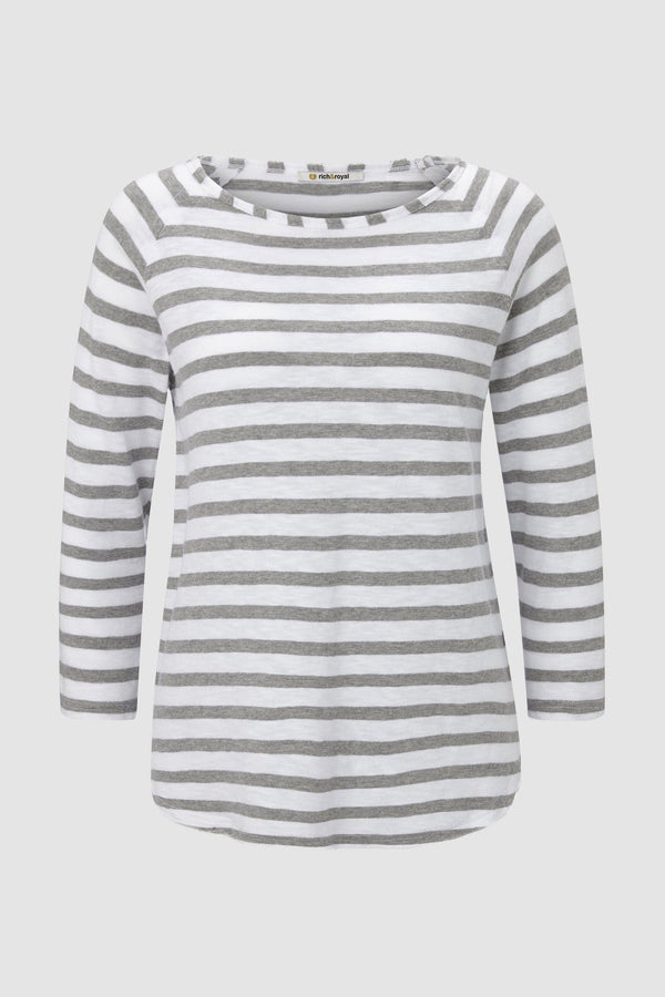 Rich & Royal - Heavy Jersey Longsleeve Striped - Büste