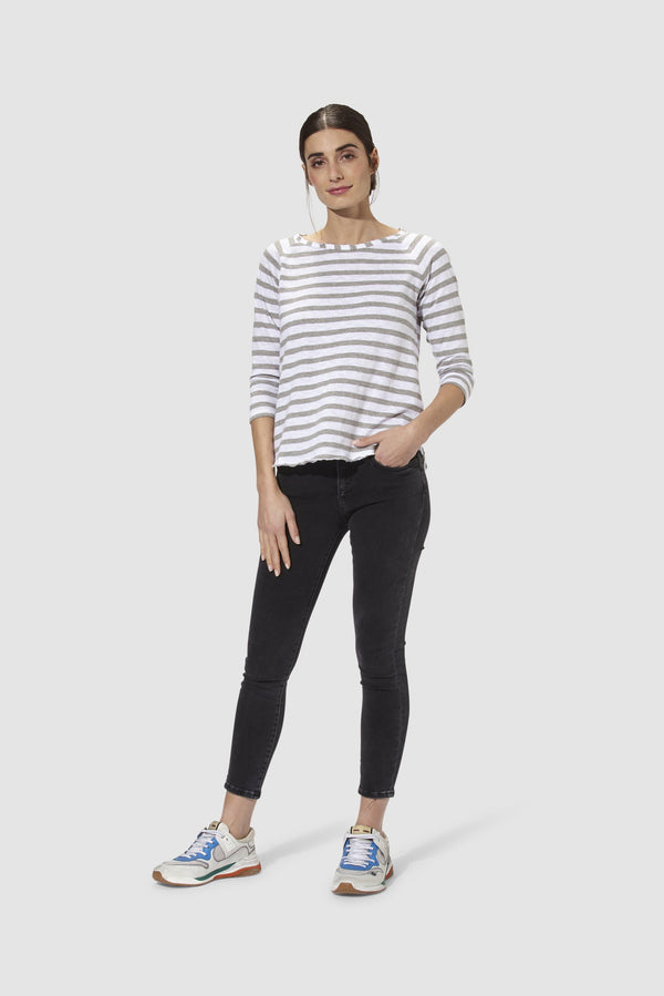 Rich & Royal - Heavy Jersey Longsleeve Striped - Modelbild vorne