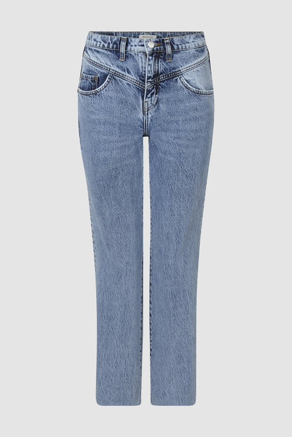 Rich & Royal - Vintage-Straight Jeans in Salt & Pepper - Büste