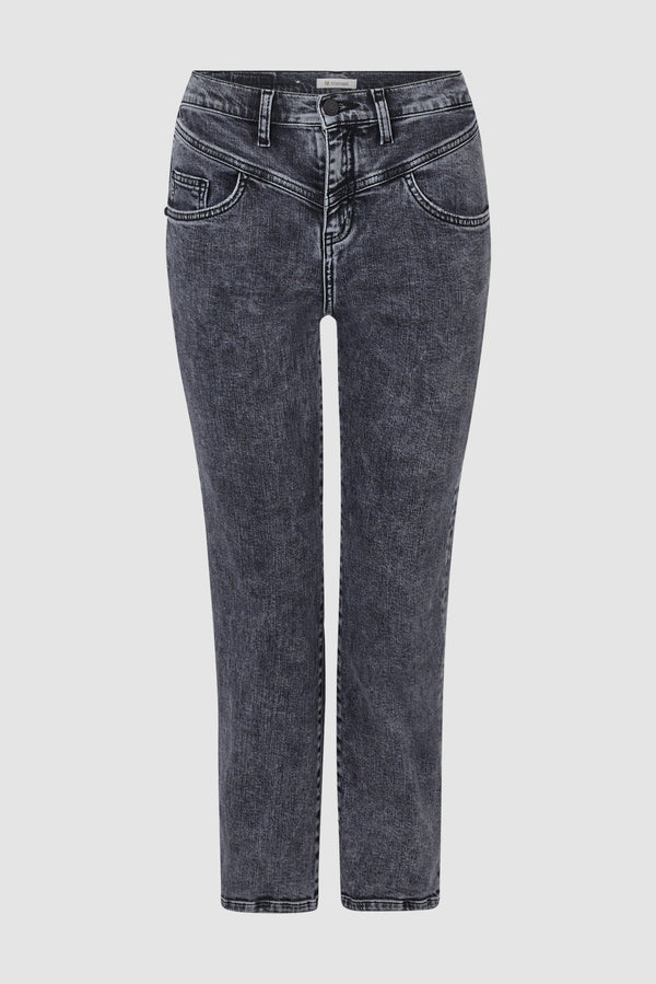 Vintage Straight Denim mit Passe