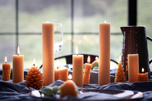 Beeswax Rolled Candle (55x210mm)