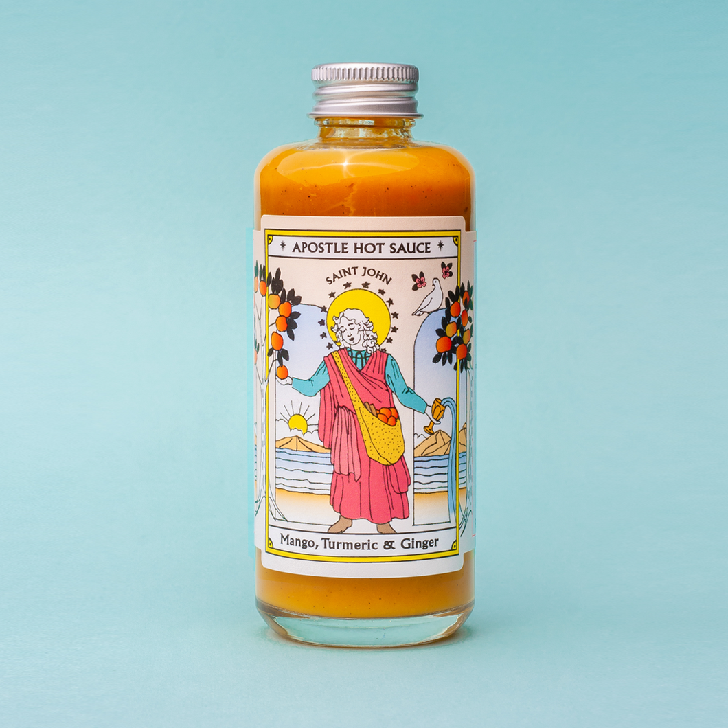 Apostle Hot Sauce -Saint John - Mango, Turmeric & Ginger 150ml