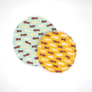 Chocolate Fish Bowl Covers (Set of 2)