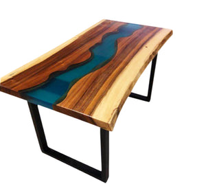 Live-Edge Riverbed Table
