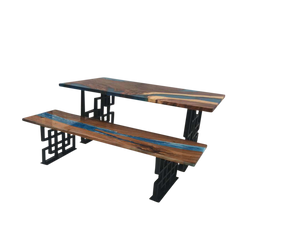 Table & Bench Set in Solid Walnut