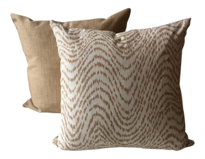 New Neutral Tiger Stripe Pillow