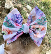 Load image into Gallery viewer, Succulents Hair Bow - Clip or Nylon