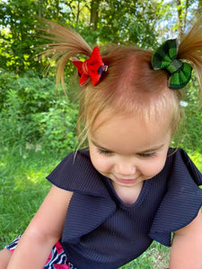 Watermelon Seeds Hair Bow - Clip or Nylon