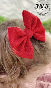 Brick Solid Color Hair Bow or Hair Band