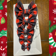 Load image into Gallery viewer, Christmas Buffalo Check Buffalo Plaid Hair Bow - Clip or Nylon