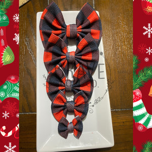 Christmas Buffalo Check Buffalo Plaid Hair Bow - Clip or Nylon